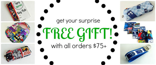Free Gift with every purchase of $75 or more