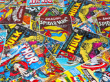 Marvel Avengers Comic Fabric