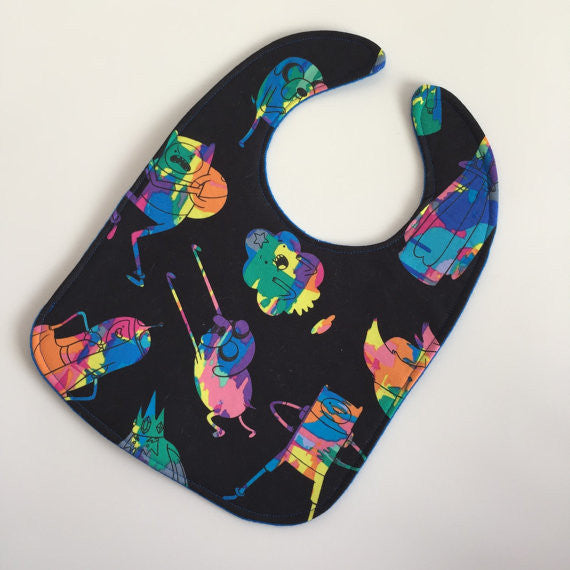 Adventure Time Tye Dye Geek ZAP! Snap Baby Bib