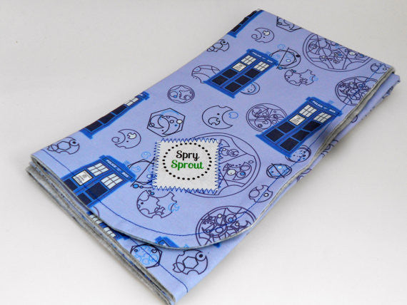 Blue Police Box Whovian Blanket