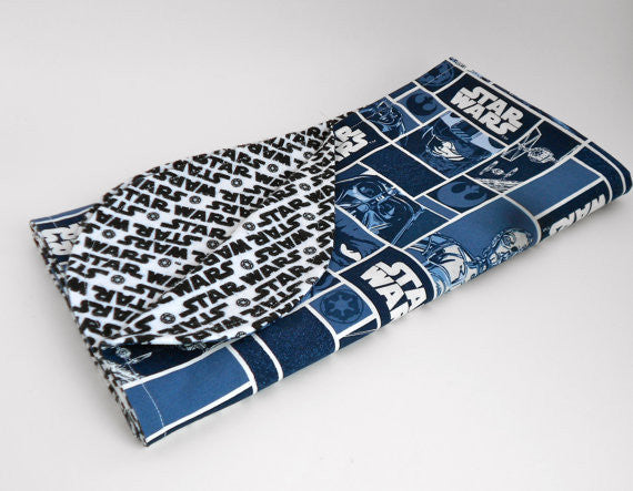 Star Wars Blue Grid Blanket