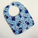 Doctor Who Blue Box Geek Baby Bib