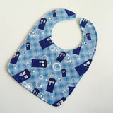 Doctor Who Blue Box Baby Bib