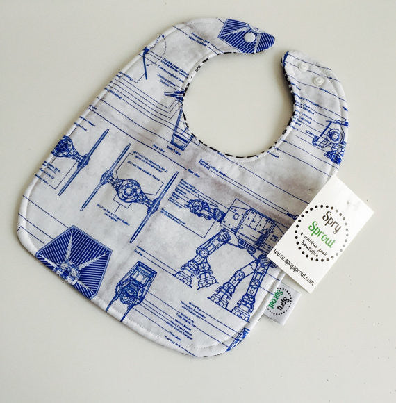 Star Wars Empire Blueprint ZAP! Snap Baby Bib