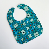 Geek Baby Bib Adenture Time Blue and Green Beemo