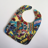 Marvel Comic Covers Baby Bib