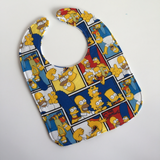 Spry Sprout Baby Bib featuring Bart, Homer, Marge, Lisa, and Maggie Simpson