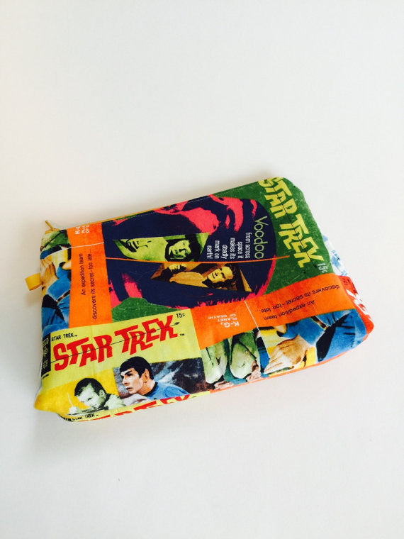 Retro Star Trek Comic Covers Large Zippered BOOM! Bag