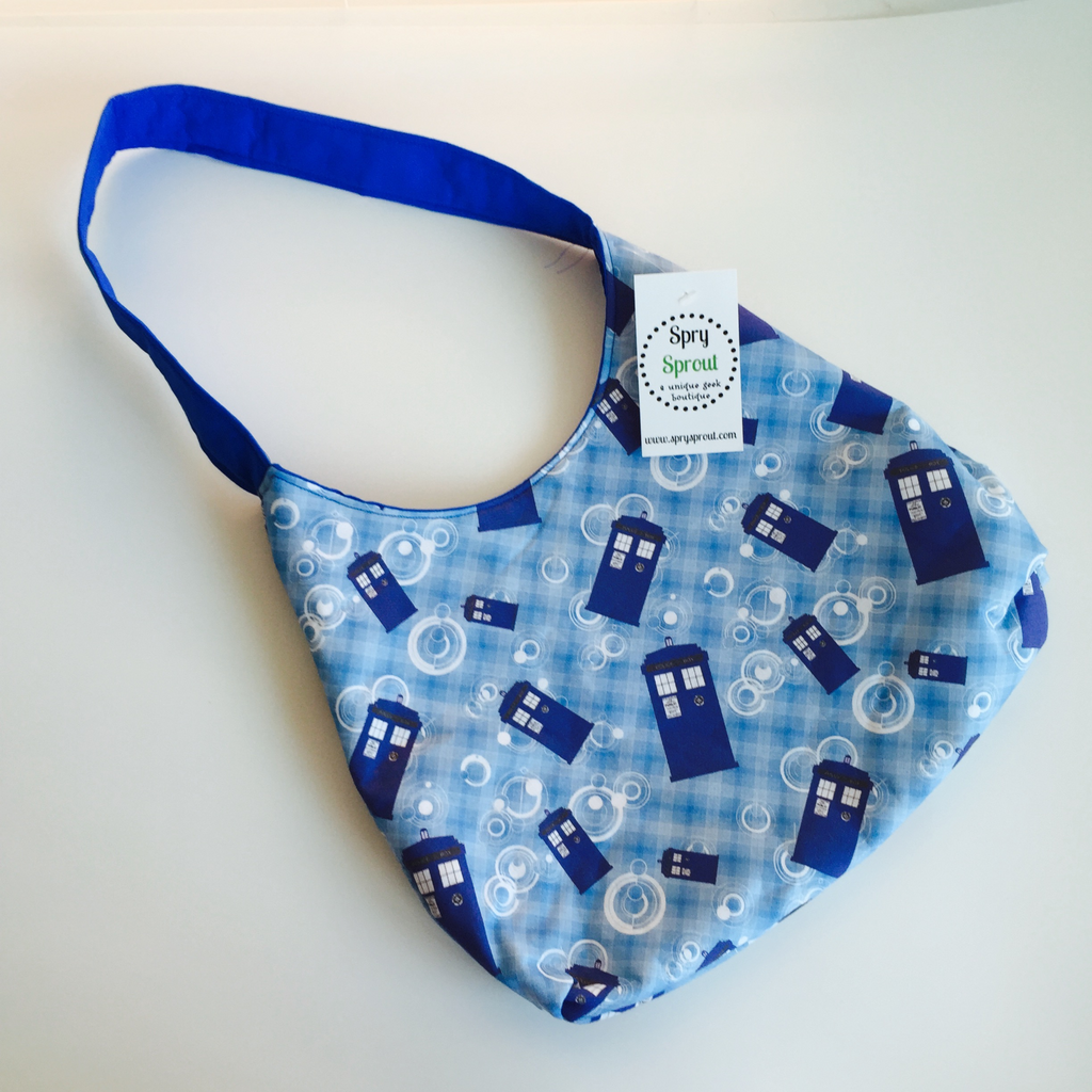 Whovian Blue Box Spry Purse