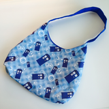 Spry Purse feauring Tardis on Baby Blue