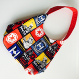Spry Purse with Collegiate Lettering Star Wars Bright Pattern