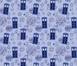 Whovian Doctor Blue Police Box Blanket