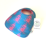 Doctor Who TARDIS Damask ZAP! Snap Baby Bib - Pink and Blue