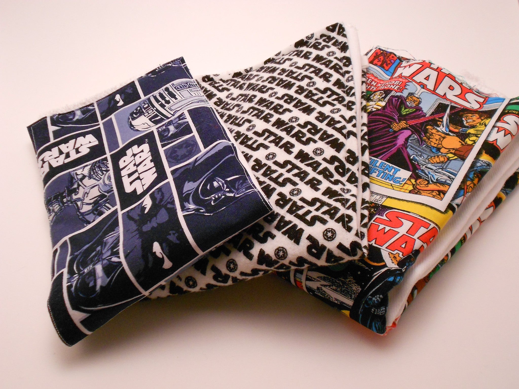 Star Wars Grid and Retro Comics Geek Baby Burp Cloths