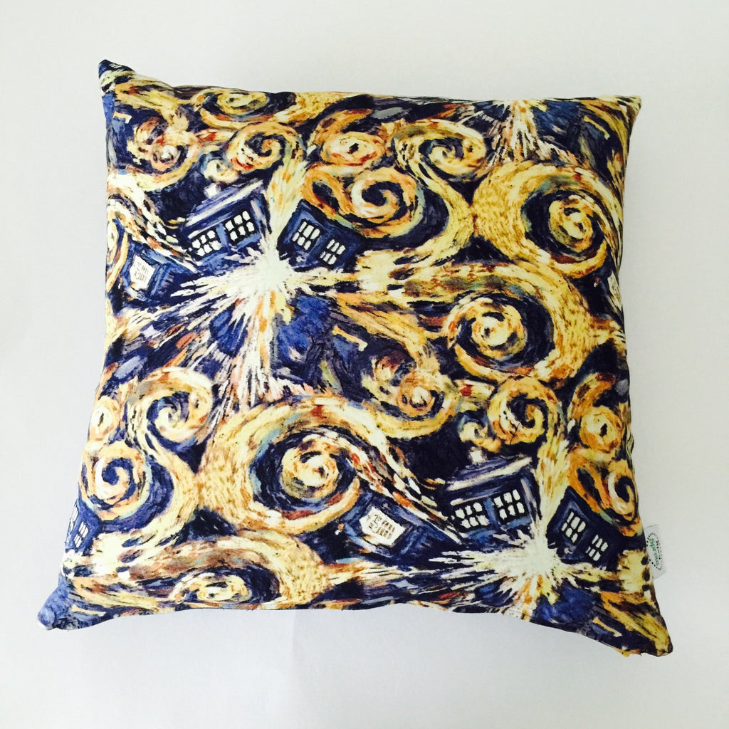 Doctor Who Exploding TARDIS Throw Pillow Slipcover - 16x16 Navy