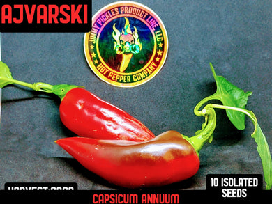 Ajvarski (Capsicum Annuum) No Heat- 10 Isolated Seeds