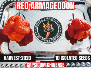 Armageddon Red- (Capsicum Chinense) Super Hot- 10 Isolated Seeds