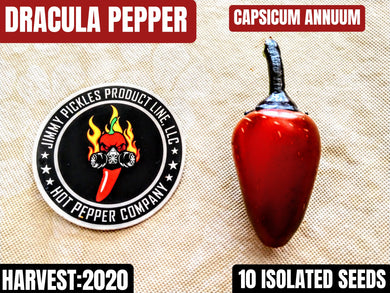 Dracula Pepper (Capsicum Annuum) Mid-Hot- 10 Isolated Seeds