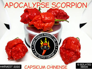 Apocalypse Scorpion (Capsicum Chinense) Super Hot-10 Isolated Seeds
