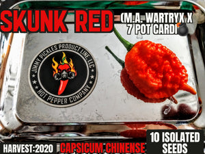 Skunk Red (Capsicum Chinense) Super Hot- 10 Isolated Seeds