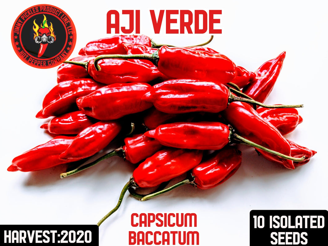 Aji Verde (Capsicum Baccatum)-Mild- 10 Isolated Seeds