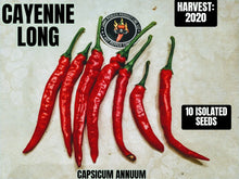 Load image into Gallery viewer, Cayenne Long (Capsicum Annuum) Mid-Hot- 10 Isolated Seeds