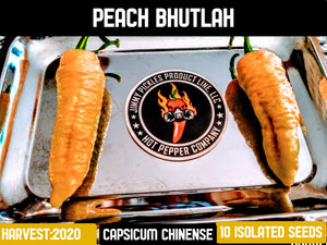 Peach Bhutlah (Capsicum Chinense) Super Hot- 10 Isolated Seeds