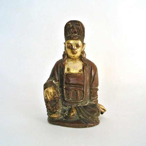 Chinese Bronze Gold Gilt Buddha from Ming Dynasty