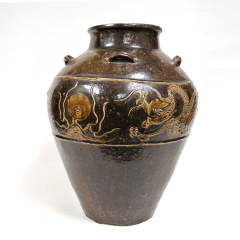 Chinese Dragon & Phoenix Design Ceramic Vase of 16th Century
