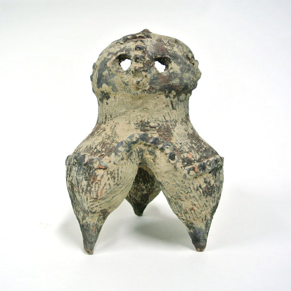 Chinese Earthenware Ritual Vessel with Three Legs