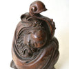 Chinese Old Bamboo Statue of Carved Sleeping Buddha