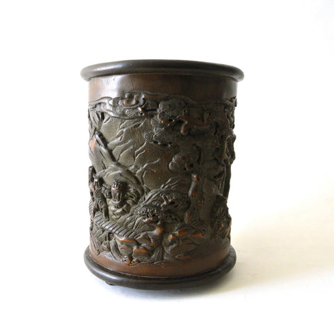 Chinese 19th Century Bamboo Brush Pot