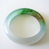 Chinese Multi-color Jade Bangle with Lavender, Russet and Green Tones