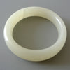 Chinese White Jade Bangle with One Natural Line