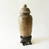 Chinese Old Carved Jade Vase with Lid