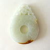 Chinese White Disc Jade Pendant
