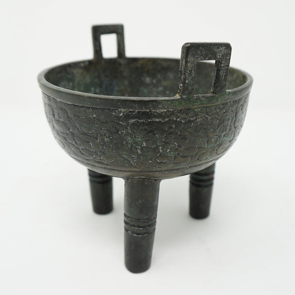 Chinese Bronze Old Tripot Incense Burner