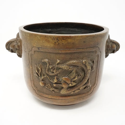 Chinese Bronze Burner with Dragon Design