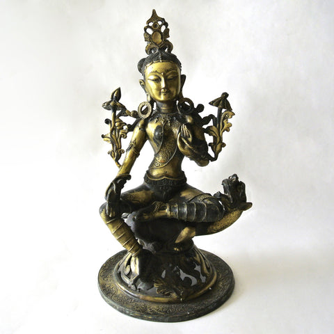 Chinese Large Gilt Guan-Yin Statue