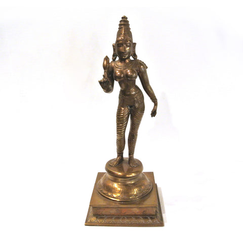 Indian Bronze Buddha Goddess Figure
