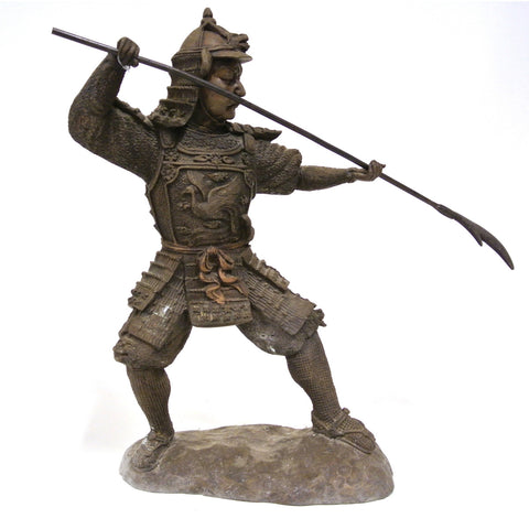Japanese Bronze Statue of a Samurai Shogun Warrior