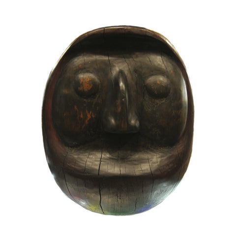 Japanese Large Wooden Daruma Statue