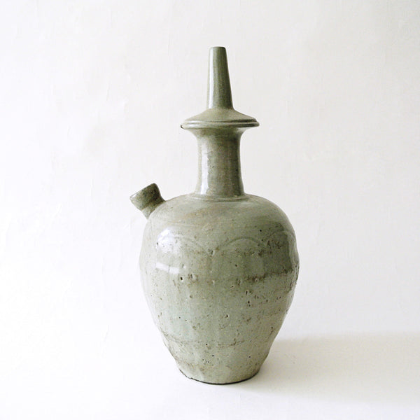 Korean Kudika Celadon Ritual Bottle from Koryo Period