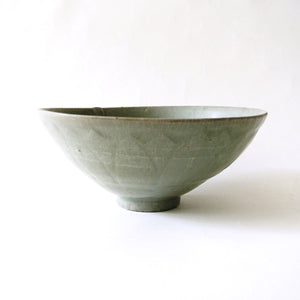 Korean Moulded Celadon Incised Bowl from Koryo Dynasty