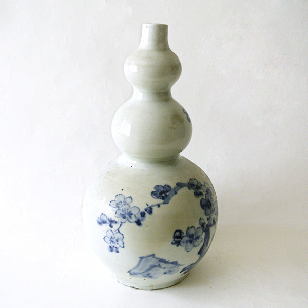 White and Blue Triple Gourd Shape Vase from Chosun Dynasty