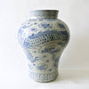 Blue and White Porcelain Jar with Dragon Design from Chosun Period