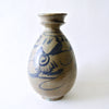 Rare Blue and White Bottle with Cup Shaped Mouth from Chosun Period