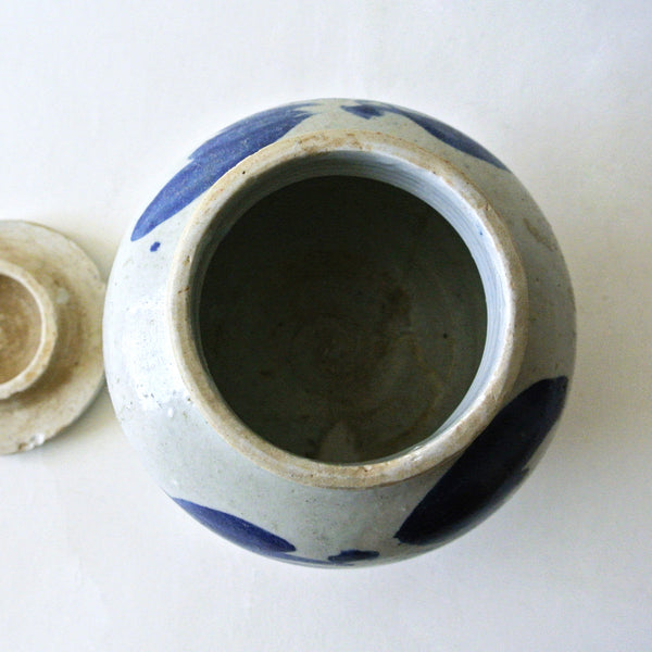 Small Blue and White Jar with Lid from Chosun Period
