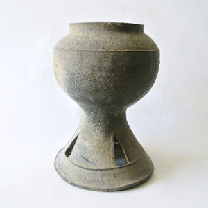 Ancient Pottery Pedestal Bowl from Korean Shilla Period