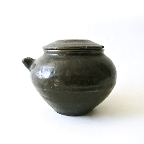 Clay Pot Ewer with Lid from Chosun Dynasty